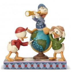 Figurine Disney Tradition Riri, Fifi et Loulou - Huey, Dewie and Loui Ducktales