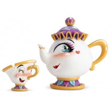 Figurine Disney Miss Mindy Mme Samovar et Zip - Mrs Pott and Chip Figurine