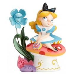 Figurine Disney Miss Mindy Alice au Pays des Merveilles - Alice on Mushroom