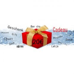 Chèque Cadeau d'une Valeur de 20€