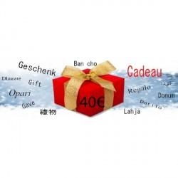 Chèque Cadeau d'une Valeur de 40€
