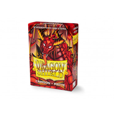 Protège-cartes Dragon Shield - 60 Japanese Sleeves Matte Crimson -Elohaen