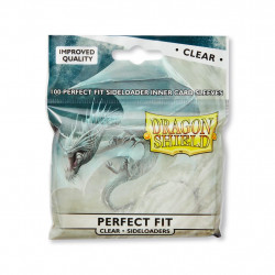Protège-cartes Dragon Shield - 100 Standard Perfect Fit Sideloaders Clear : Nalvapo