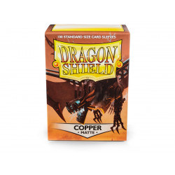 Protège-cartes Dragon Shield - 100 Standard Sleeves Matte Copper - Draco Primus