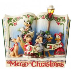 Figurine Disney Tradition Storybook Noël Mickey et ses Amis