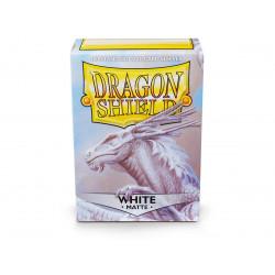 Protège-cartes Dragon Shield - 100 Standard Sleeves Matte White