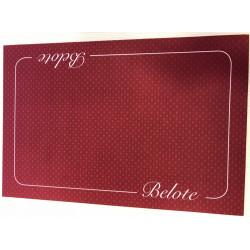Tapis Belote Coeur de Pique Excellence Bordeaux