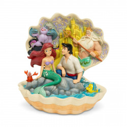 Figurine Disney Tradition Ariel et Eric assis dans un coquillage