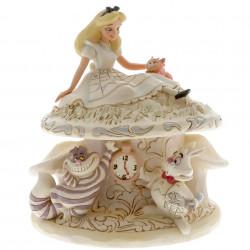 Figurine Disney Tradition White Alice au Pays des Merveilles et ses amis