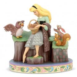 Figurine Disney Tradition Aurore et ses amis de la Forêt