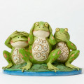 Figurine Jim Shore Grenouilles de la Sagesse - See No Evil, Hear No Evil, Croak No Evil