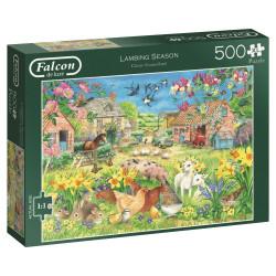 Puzzle Jumbo Falcon : Lambing Season - 500 Pièces XL