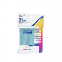 Gamegenic Prime Sleeves 50 pochettes Mini Square Large 53 x 53 mm