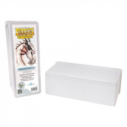 Deck box boite de rangement Dragon Shield 4 compartiments - Blanc