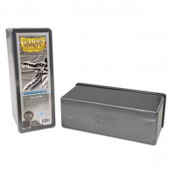 Deck box boite de rangement Dragon Shield 4 compartiments - Argent