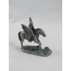 Figurine Etain PEGASE AVEC CAVALIERE THE MYSTICAL TRAVELLERS
