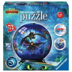 Puzzle Ravensburger 3D Ball - Dragon 3 - 72 Pièces