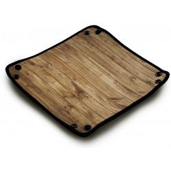 Piste de Dés Néoprene Dice Tray : Wood Texture