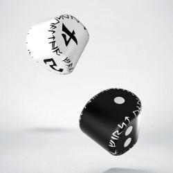 Set de dés - Runic Noir D2 & Blanc D4