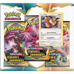 Booster Tri-Pack Pokémon Epée et Bouclier - Ténèbres Embrasées : Évoli