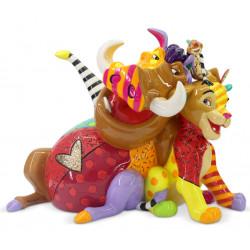 Figurine Disney Britto Simba, Timon et Pumbaa