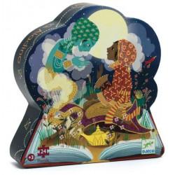 Puzzle Djeco silhouette - Aladdin - 24 pièces