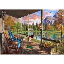 Micro Puzzle : Mountain Cabin - 40 Pièces