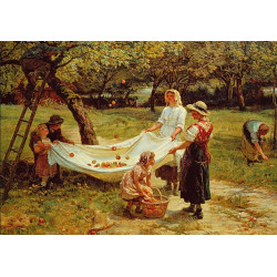 Micro Puzzle : The Apple Gatherers - 40 Pièces