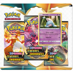 Booster Tri-Pack Pokémon Epée et Bouclier - Ténèbres Embrasées Bibichut