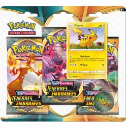 Booster Tri-Pack Pokémon Epée et Bouclier - Ténèbres Embrasées Pikachu