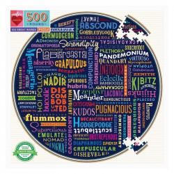 Puzzle Eeboo : 100 Great Words - 500 Pièces
