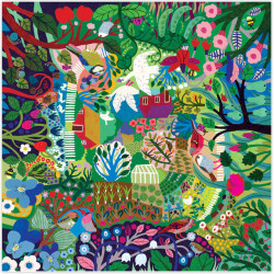 Puzzle Eeboo : Jardin Luxuriant - 1000 Pièces
