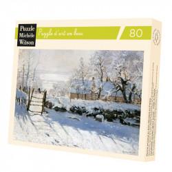 Puzzle Michèle Wilson : Claude Monet - La Pie - 80 Pièces