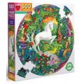 Puzzle Eeboo : Unicorn Garden - 500 Pièces