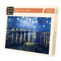 Puzzle Michèle Wilson : Van Gogh - Nuit étoilée sur le Rhône - 150 Pièces