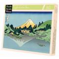 Puzzle Michèle Wilson : Hokusai - Reflets du Mont Fuji - 80 Pièces