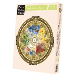 Puzzle Michèle Wilson : Chagall - Plafond de l'Opéra de Paris - 80 Pièces