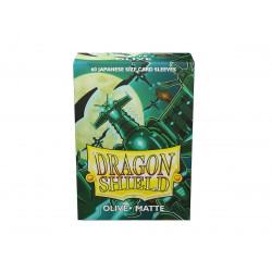 Protège-cartes Dragon Shield - 60 Japanese Sleeves Matte Vert Olive - Bakudrane