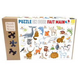 Puzzle Michèle Wilson : Hannah Weeks - L'Alphabet des animaux - 12 Pièces