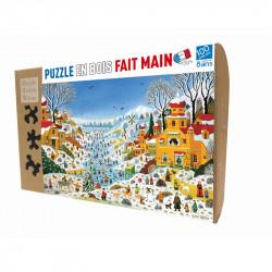 Puzzle Michèle Wilson : Alain Thomas - Scène hivernale aux Toucans - 100 Pièces