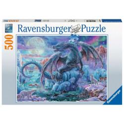 Puzzle Ravensburger - Dragon de Glace - 500 Pièces