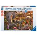 Puzzle Ravensburger : Animaux du Continent Africain - 3000 Pièces