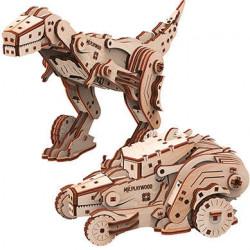 Puzzle Mr Playwood - Dinocar modèle 3D mobile en bois