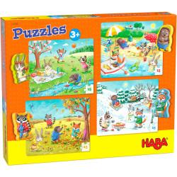 Puzzles HABA : Puzzles Les saisons - 4 x 15 Pièces