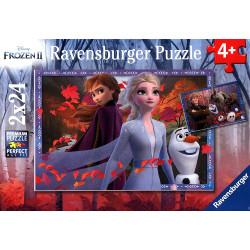 Puzzle Ravensburger - 2 Puzzles - La Reine des Neiges II - 2 x 24 Pièces