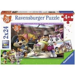 Puzzle Ravensburger - 2 Puzzles - 44 Cats - 2 x 24 Pièces