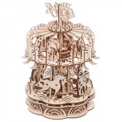 Puzzle Mr Playwood - Carroussel modèle 3D mobile en bois