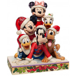 Figurine Disney Tradition Noël avec Mickey et ses amis