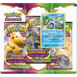 Booster Tri-Pack Pokémon Epée et Bouclier - Voltage Eclatant - Larméléon