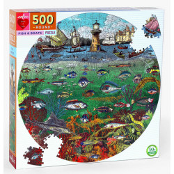 Puzzle Eeboo : Fish and Boats - 500 Pièces